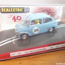 Scalextric: COCHE SCALEXTRIC DE TECNITOYS SEAT 600 40 ANIVERSARIO DE 2002 AZUL CLARO Nº36. Lote 178394295