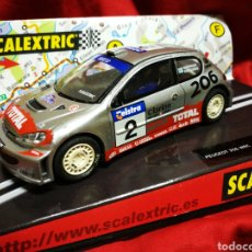 Scalextric: SCALEXTRIC PEUGEOT 206 WRC- REF. 6125- GROHHOLM, RAUTIAINEN (TECNITOYS), EN CAJA.. Lote 179001252