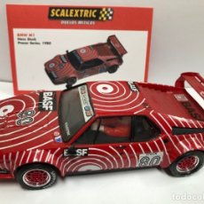 Scalextric: COCHE SLOT BMW M1 BASF SCALEXTRIC ALTAYA SERIE DUELOS MITICOS NUEVO . Lote 180324656