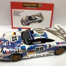 Scalextric: COCHE SLOT PORSCHE 911 GT1 SCALEXTRIC ALTAYA SERIE DUELOS MITICOS NUEVO . Lote 180325195