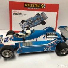 Scalextric: COCHE SLOT LIGIER JS-11 JCQUES LAFITTE FORMULA 1 1979 SCALEXTRIC ALTAYA SERIE DUELOS MITICOS NUEVO . Lote 180326651