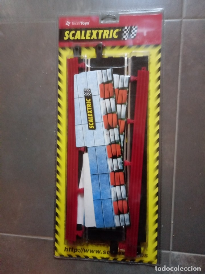 SET SCALEXTRIC SCX REF 8814. F1 PUENTE COMPLETO EN BLISTER ORIGINAL ORIGINAL (Juguetes - Slot Cars - Scalextric Tecnitoys)