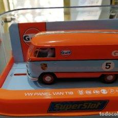 Scalextric: BLACK FRIDAY -VW PANEL VAN DECORACION GULF DE SUPERSLOT. Lote 183370916