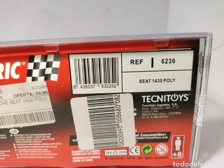 Scalextric: SCALEXTRIC SEAT 1430 POLY TECNITOYS REF. 6236 - Foto 2 - 194630571
