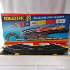 Scalextric: ESCALEXTRIC CAMBIO DE PISTA EN CURVA. Lote 197052536