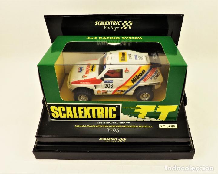 Scalextric: Scalextric Vintage Ed. Limitada Mitsubishi pajero TT - Foto 2 - 197359127