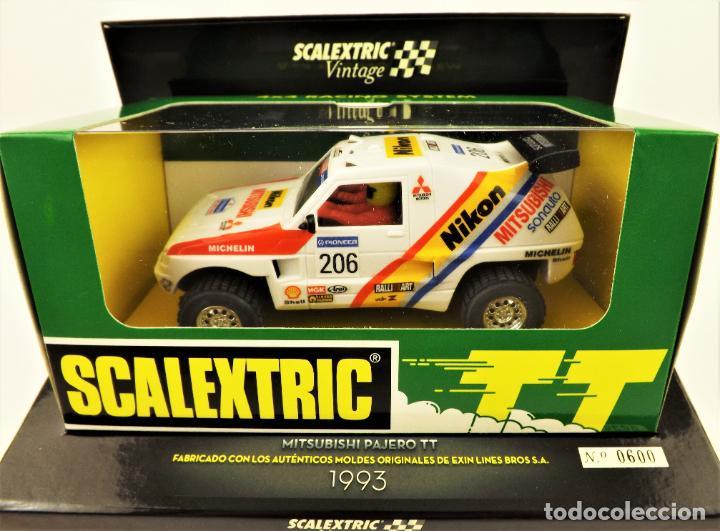 Scalextric: Scalextric Vintage Ed. Limitada Mitsubishi pajero TT - Foto 3 - 197359127