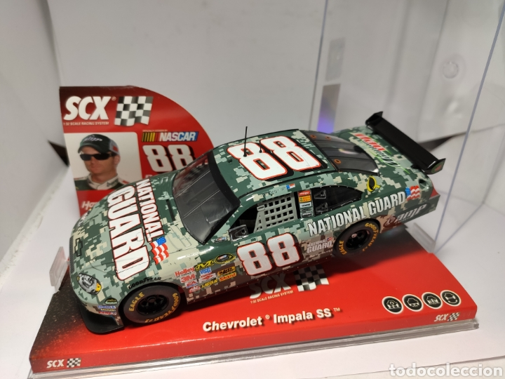 SCALEXTRIC CHEVROLET IMPALA SS NATIONAL GUARD SCX NASCAR TECNITOYS REF. 63940 (Juguetes - Slot Cars - Scalextric Tecnitoys)