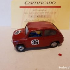 Scalextric: SEAT 600 VINTAGE TEÑIDO ROJO OSCURO. Lote 205539437