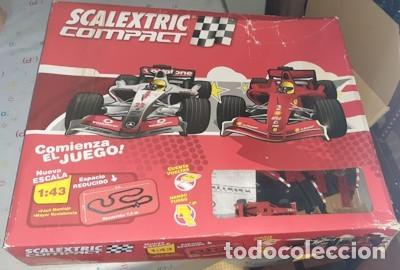 SCALEXTRIC COMPACT ESCALA 1/43, USADO PERO COMPLETO (Juguetes - Slot Cars - Scalextric Tecnitoys)