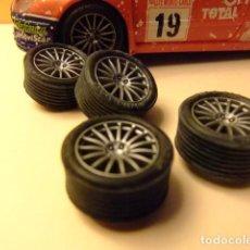 Scalextric: SCALEXTRIC CITROËN XSARA T4 WRC ACCESORIO JUEGO LLANTAS Y NEUMATICOS. Lote 210350462