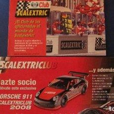 Scalextric: SCALEXTRIC ORIGINAL: 2 TARJETAS DEL CLUB SCALEXTRIC. Lote 212831886