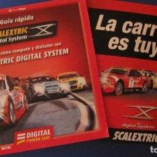 Scalextric: SCALEXTRIC ORIGINAL: CATALOGGOS DIGITAL SYSTEM Y LA CARRERA ES TUYA. Lote 212894390