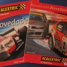 Scalextric: SCALEXTRIC ORIGINAL: CATALOGOS NOVEDADES ABRIL 2003 Y MAYO 2004. Lote 212894641