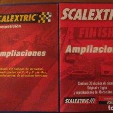 Scalextric: SCALEXTRIC ORIGINAL: DOS CATALOSOGS DE AMPLIACIONES INCLUIDO DIGITAL. Lote 213219991