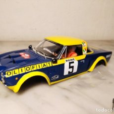 Scalextric: CARCASA FIAT ABARTH 124 RALLYE SCALEXTRIC ALTAYA - ROBERTO CAMBIAGHI-BRUNO SCABINI- OLIO FIAT. Lote 216504403
