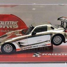 Scalextric: MERCEDES-BENZ AMG SLS GT3 COCHE DEL CLUB SCALEXTRIC, AÑO 2012, NUEVO Y PRECINTADO. Lote 217922103