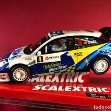 Scalextric: FORD FOCUS WRC, D. SOLÁ, RALLY DE MEXICO. Lote 218093135