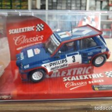 Scalextric: SLOT CAR SCALEXTRIC RENAULT 5 TURBO BLUE EDITION. Lote 227739760