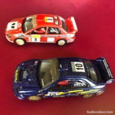 Scalextric: 2 COCHES SCALEXTRIC MITSUBISHI. Lote 222239987