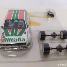 Scalextric: SCALEXTRIC - FIAT 131 ALITALIA - CARROCERIA EJES GUIA IMÁN Y TORNILLOS EN SU BLISTER. Lote 222513713