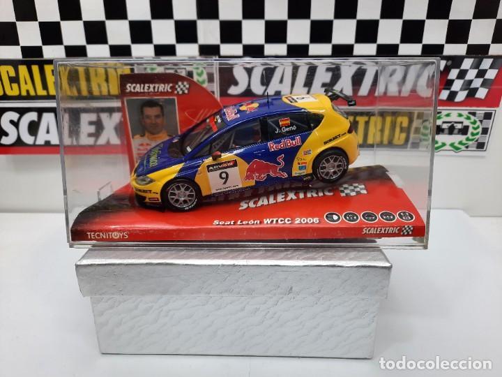 SEAT LEON WTCC 2006 #9 JORDI GENE SCALEXTRIC PRECINTADO A ESTRENAR! (Juguetes - Slot Cars - Scalextric Tecnitoys)