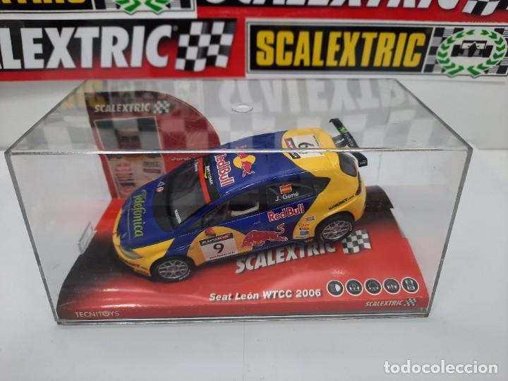 Scalextric: SEAT LEON WTCC 2006 #9 JORDI GENE SCALEXTRIC PRECINTADO A ESTRENAR! - Foto 2 - 222691902