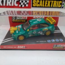"Scalextric: SEAT CORDOBA WRC "" 2001 POLLOCK "" # CLUB SCALEXTRIC CON LUCES!!. Lote 224529325"