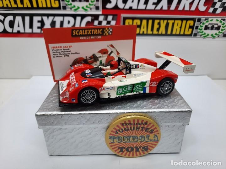 FERRARI 333 SP LE MANS 1998(MOTOR REPROTEC ) #5 SCALEXTRIC TECNITOYS CON SU CERTIFICADO DE EDICION L (Juguetes - Slot Cars - Scalextric Tecnitoys)