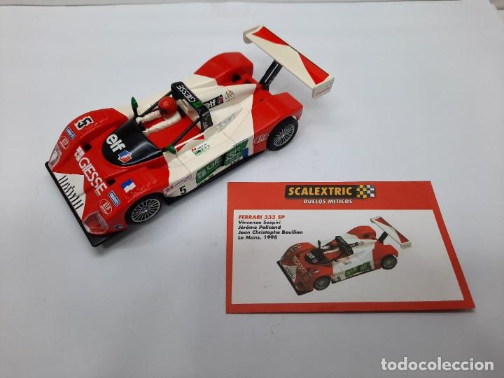 Scalextric: FERRARI 333 SP LE MANS 1998(MOTOR REPROTEC ) #5 SCALEXTRIC TECNITOYS CON SU CERTIFICADO DE EDICION L - Foto 2 - 225291645
