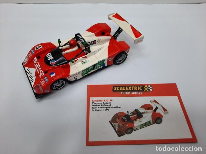 Scalextric: FERRARI 333 SP LE MANS 1998(MOTOR REPROTEC ) #5 SCALEXTRIC TECNITOYS CON SU CERTIFICADO DE EDICION L - Foto 11 - 225291645