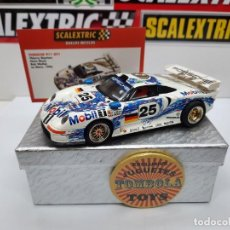 Scalextric: PORSCHE 911 GT1 LE MANS (MOTOR REPROTEC ) #25 SCALEXTRIC TECNITOYS CON SU CERTIFICADO DE EDICION L. Lote 225293382
