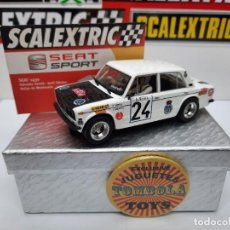 Scalextric: SEAT 1430 MONTECARLO 1977 #24 SCALEXTRIC CON LUCES!!! CERTIFICADO DE EDICION LIMITADA.. Lote 225300020