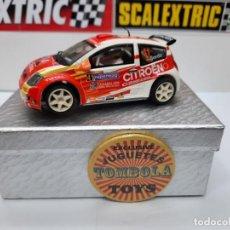 Scalextric: CITROEN C2 JWRC SCALEXTRIC CON LUCES!!!. Lote 225352950