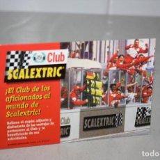 Scalextric: ANTIGUA TARJETA DEL CLUB SCALEXTRIC.. Lote 231831600