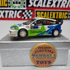 Scalextric: FORD FOCUS WRC #14 ULTIMATE SCALEXTRIC CON LUCES!!!. Lote 232298095