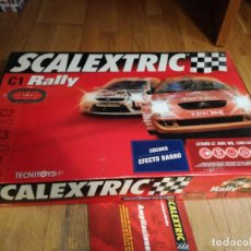 Scalextric: SCALEXTRIC C1 RALLY COCHES EFECTO BARRO. 2004 DESCATALOGADO.. Lote 234849720