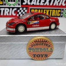 "Scalextric: PEUGEOT 307 WRC #5 "" TOTAL "" SCALEXTRIC CON LUCES !! DESCRIPCION.... Lote 236980055"