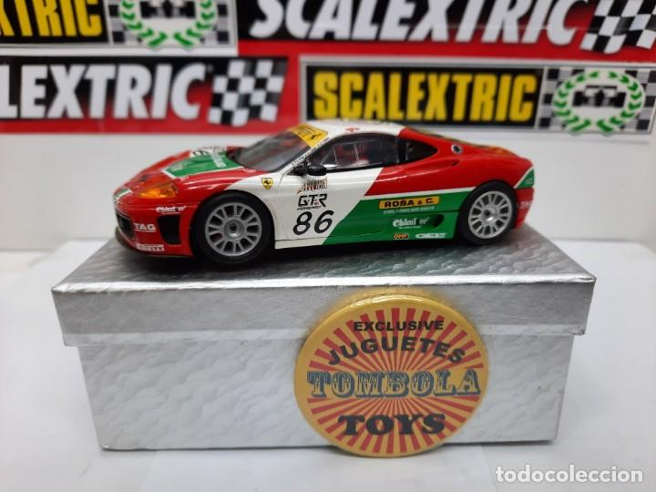 "FERRARI 360 GTC # 86 "" SCALEXTRIC CON LUCES !! DESCRIPCION... (Juguetes - Slot Cars - Scalextric Tecnitoys)"