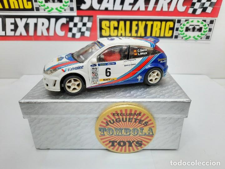 "FORD FOCUS WRC "" C.SAINZ- L.MOYA # 6 "" SCALEXTRIC !! DESCRIPCION... (Juguetes - Slot Cars - Scalextric Tecnitoys)"