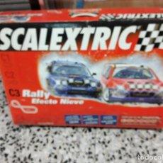 Scalextric: SCALEXTRIC C3 RALLY EFECTO NIEVE. COMPLETO CON LOS COCHE Y TODOS LOS ACCESORIOS Y ALGUNO MAS. Lote 237639965