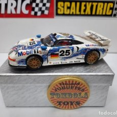 "Scalextric: PORSCHE 911 GT1 "" MOBIL "" #25 SCALEXTRIC. Lote 238499765"