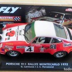 Scalextric: PORSCHE 911 RALLYE MONTECARLO 1972 SCALEXTRIC FLY REFERENCIA E2014. NUEVO A ESTRENAR. AGOTADO. Lote 239648875