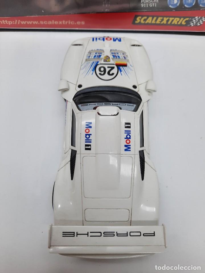 "Scalextric: PORSCHE 911 GT1 "" MOBIL "" #26 SCALEXTRIC - Foto 5 - 241051050"