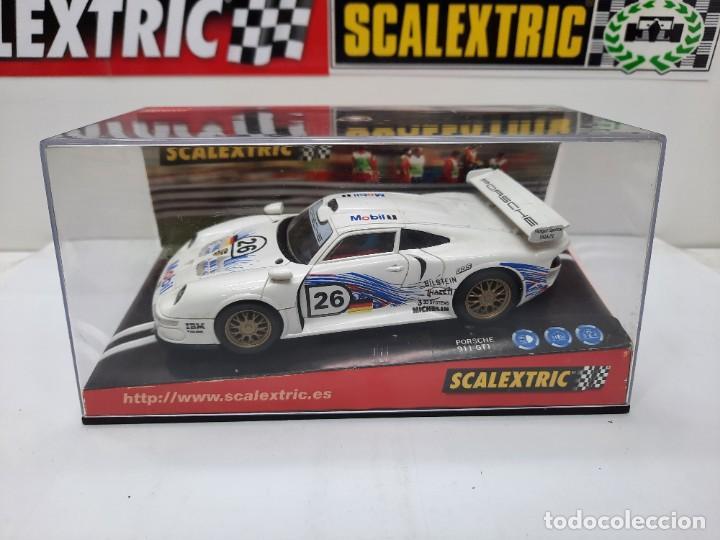 "Scalextric: PORSCHE 911 GT1 "" MOBIL "" #26 SCALEXTRIC - Foto 12 - 241051050"