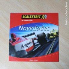 Scalextric: CATALOGO SCALEXTRIC. MAYO 2004. NOVEDADES. MEDIDAS DE 15 X 15 CM. MUY BUEN ESTADO. DESPLEGABLE.. Lote 245129330