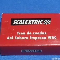 Scalextric: SCALEXTRIC TREN DE RUEDAS DEL SUBARU IMPREZA, NUEVO Y PRECINTADO. Lote 247409155