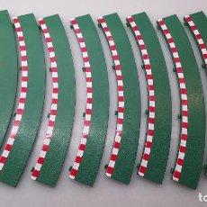Scalextric: SLOT SCALEXTRIC TECNITOYS 10X BORDE PIANO EXTERIOR PARA CURVA STANDARD. Lote 253954840