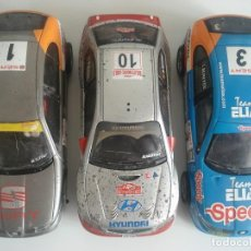 Scalextric: LOTE DE 3 SLOT CAR COCHES DE PISTA SEAT LEÓN HYNDAI ACCENT TECNITOYS SCALEXTRIC MADE IN CHINA. Lote 254439700
