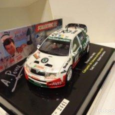 Scalextric: SCALEXTRIC. SKODA FABIA WRC. T.PONCE. FIRMADO!. CAMPEÓN DE CANARIAS DE RALLYES 2007. REF. 6327. Lote 257709525